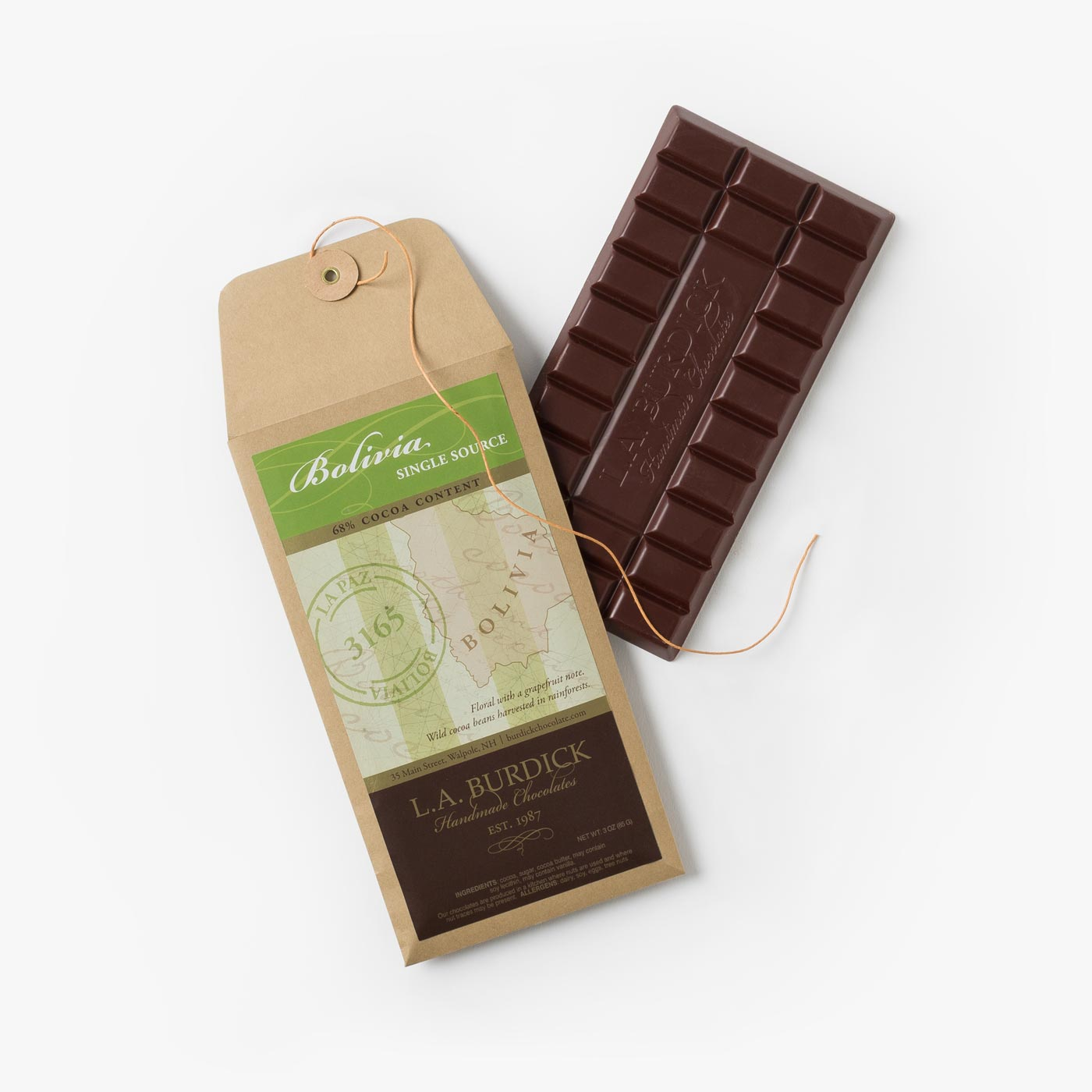 Single Source Bolivia Dark Chocolate Bar