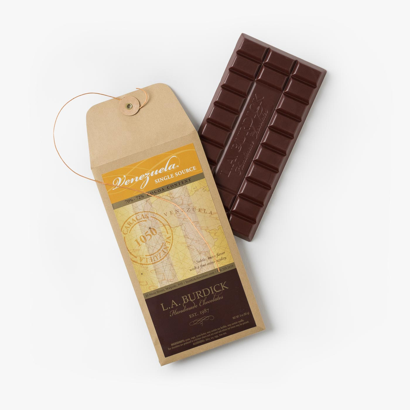 Single Source Venezuela Dark Chocolate Bar (70%-72%)