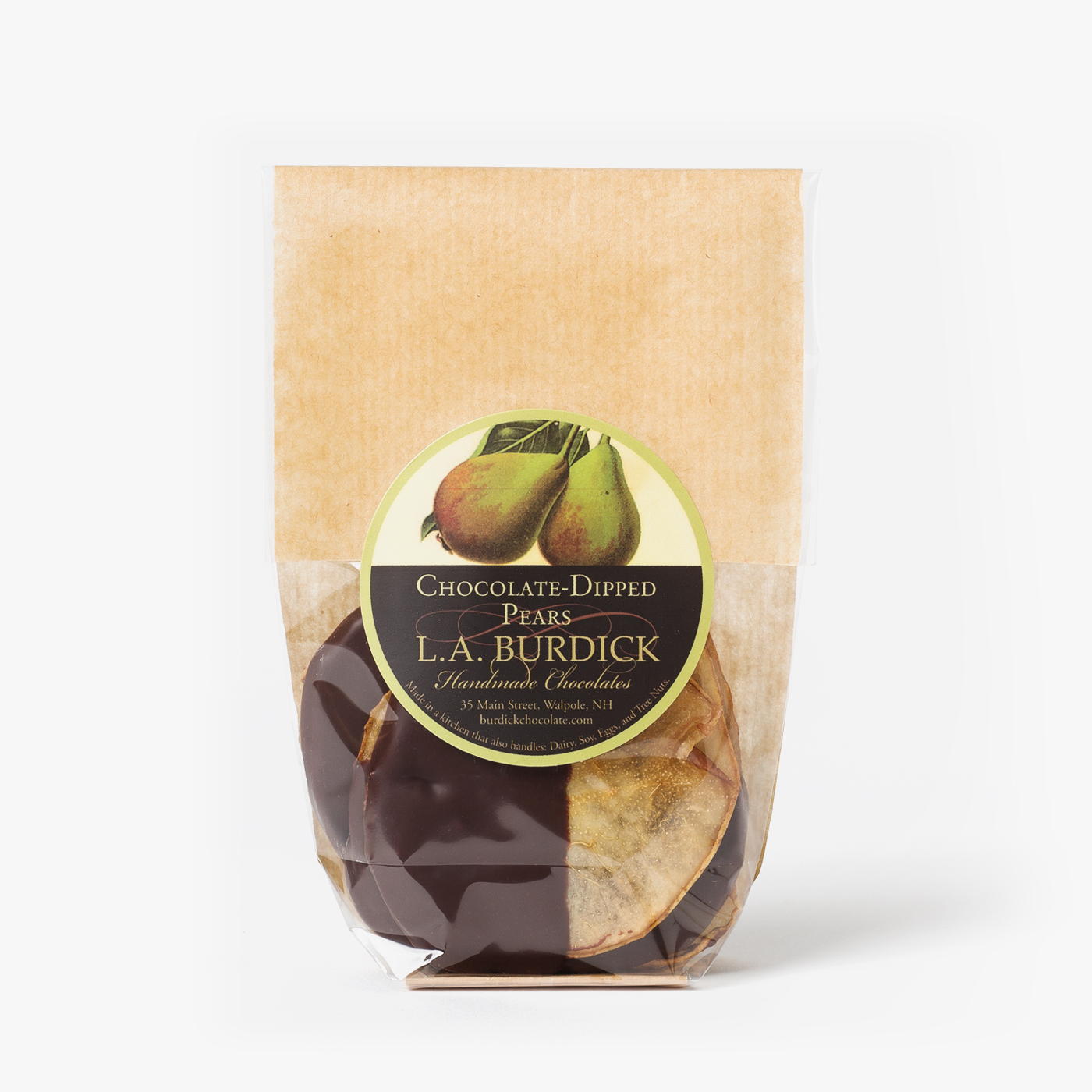 Chocolate-Dipped Pear