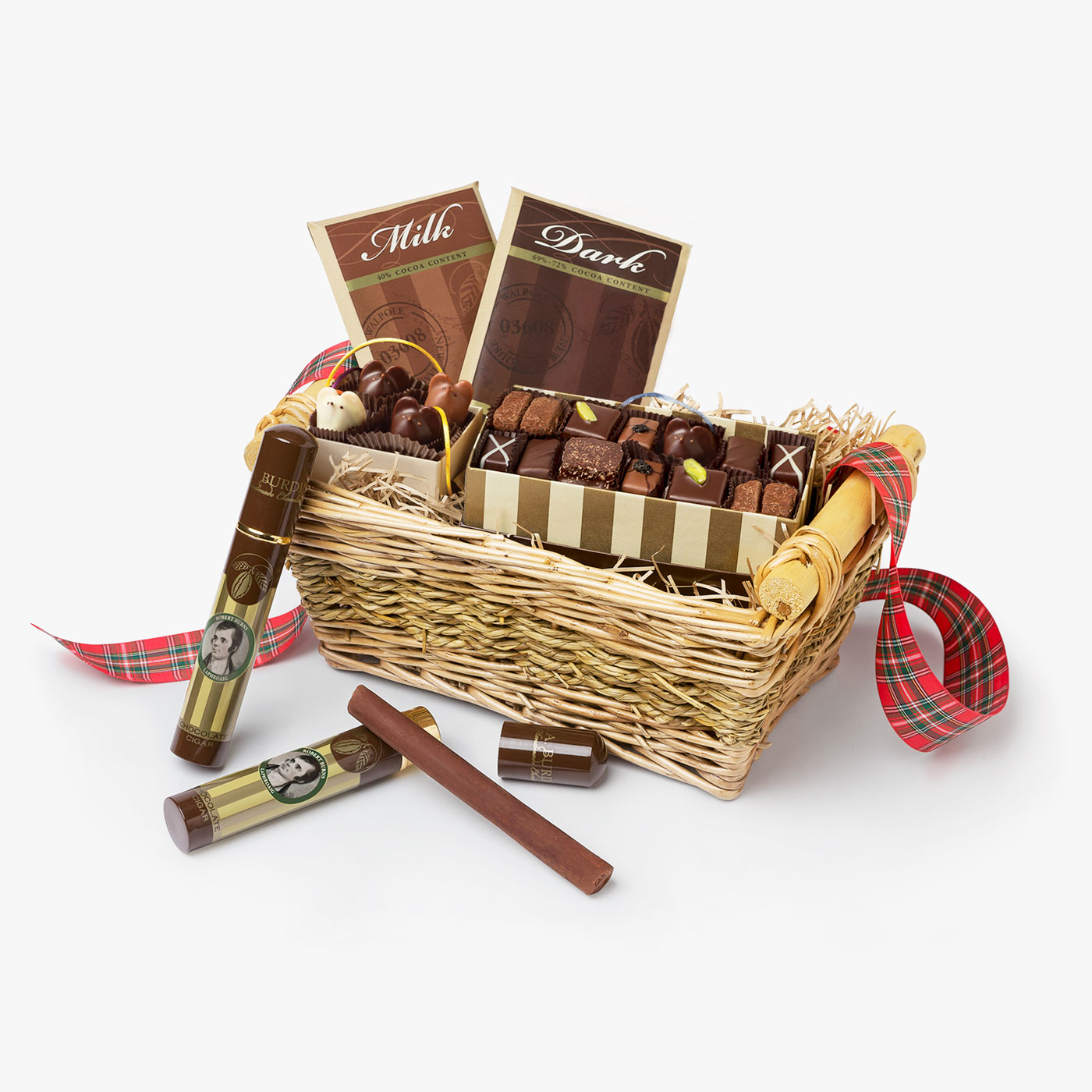 Scotch Whisky Chocolate Gift Basket